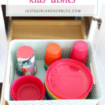 How to Organize Kids' Dishes