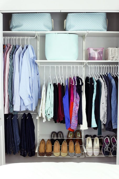 Home Organization- My Top 10 Favorite Organizing Items from IKEA, kitchen organization, craft room organization, office organization, organized, declutter, decluttering, minimalist, minimalism, ALGOT Closet System for Master Closet