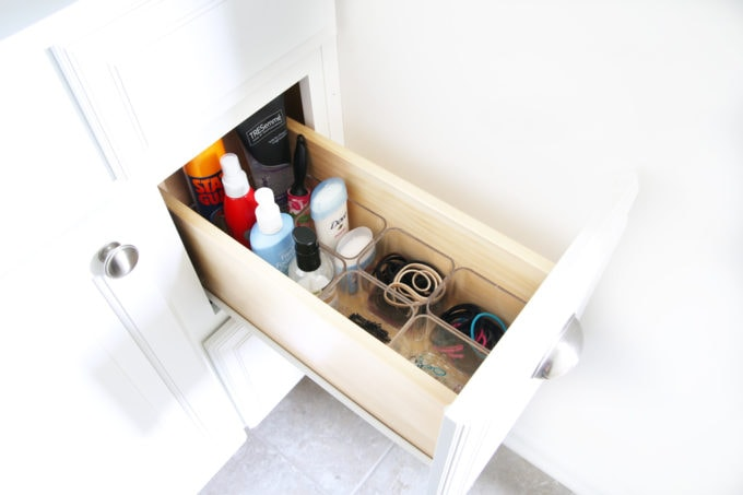 Home Organization- My Top 10 Favorite Organizing Items from IKEA, kitchen organization, craft room organization, office organization, organized, declutter, decluttering, minimalist, minimalism, GODMORGON Bathroom Vanity Organization Storage Containers