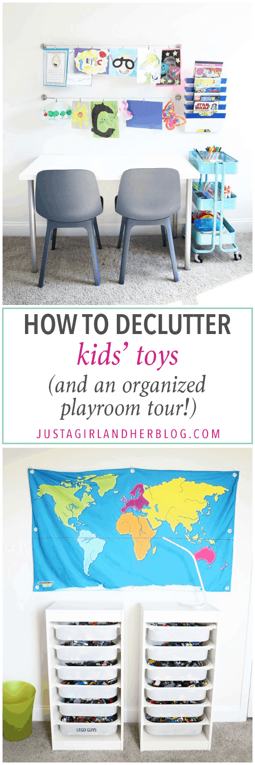 Home Organization- How to Declutter Kids' Toys and an Organized Playroom Tour, kids organization, playroom organization, organized playroom, organized toy room, toy room organization, decluttering toys, purging toys, purge, declutter, toy organization ideas, organizing with children