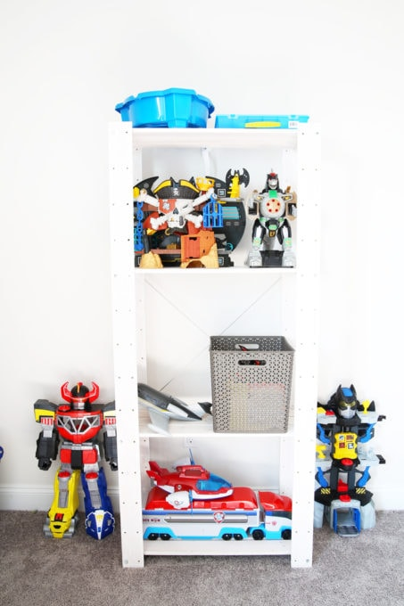 Home Organization- How to Declutter Kids' Toys and an Organized Playroom Tour, kids organization, playroom organization, organized playroom, organized toy room, toy room organization, decluttering toys, purging toys, purge, declutter, toy organization ideas, organizing with children, how to store large toys