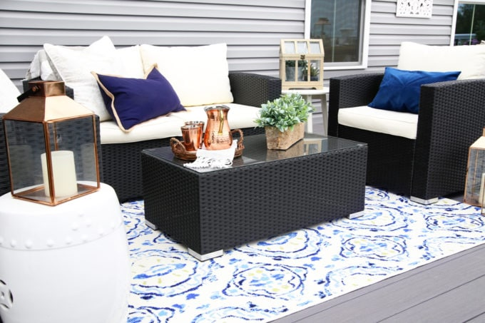 Home- Our Backyard Deck Reveal with AZEK Building Products, outdoor decor, building a deck, deck decor, outdoor styling, deck design, decking, Ryan Homes Palermo, deck inspiration, outdoor inspiration, outdoor furniture, conversation set