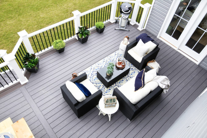Our Backyard Deck Reveal (with AZEK Building Products) - Just a Girl ...