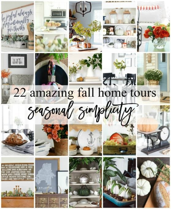 Home- Our Fall home tour is filled with beautiful, simple seasonal details and lots of blue, copper, and neutrals! autumn decor, fall decorating, home tour, house tour, seasonal simplicity fall home tour, farmhouse decor, cottage decor, neutral decorating, fall living room and dining room tour