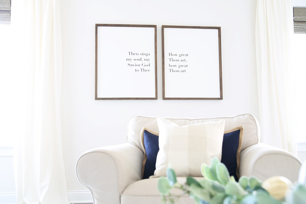 DIY- Large DIY Framed Canvas Art, DIY Art, DIY wall decor ...