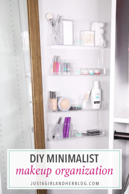 DIY Minimalist Makeup Organization Hack