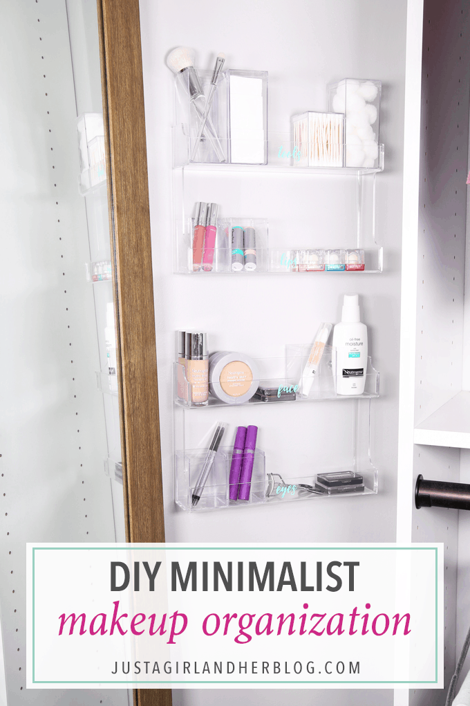 Diy Minimalist Makeup Organization Hack Just A Girl And