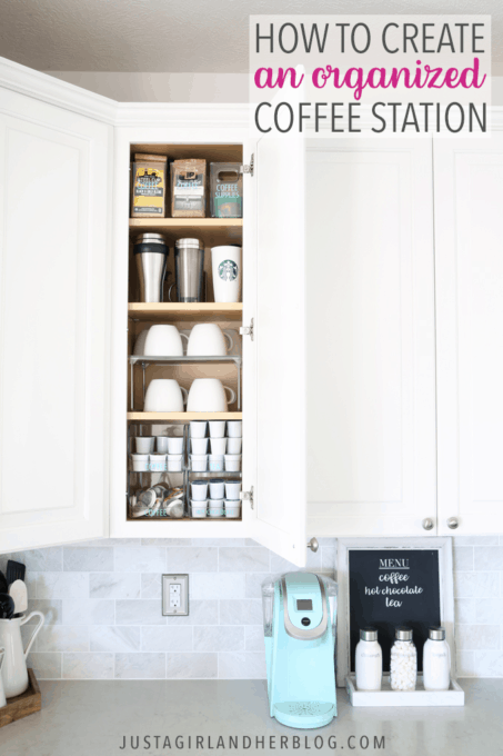How to Create an Organized Coffee Station