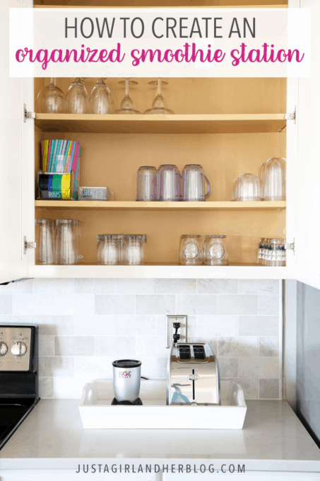 An Organized Coffee Station And An Organized Smoothie