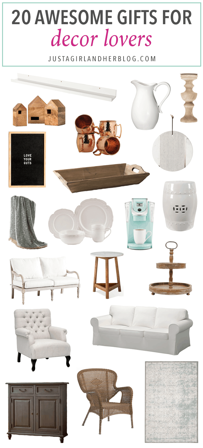 Best Christmas Gifts for Decor Lovers! - Just a Girl and Her Blog