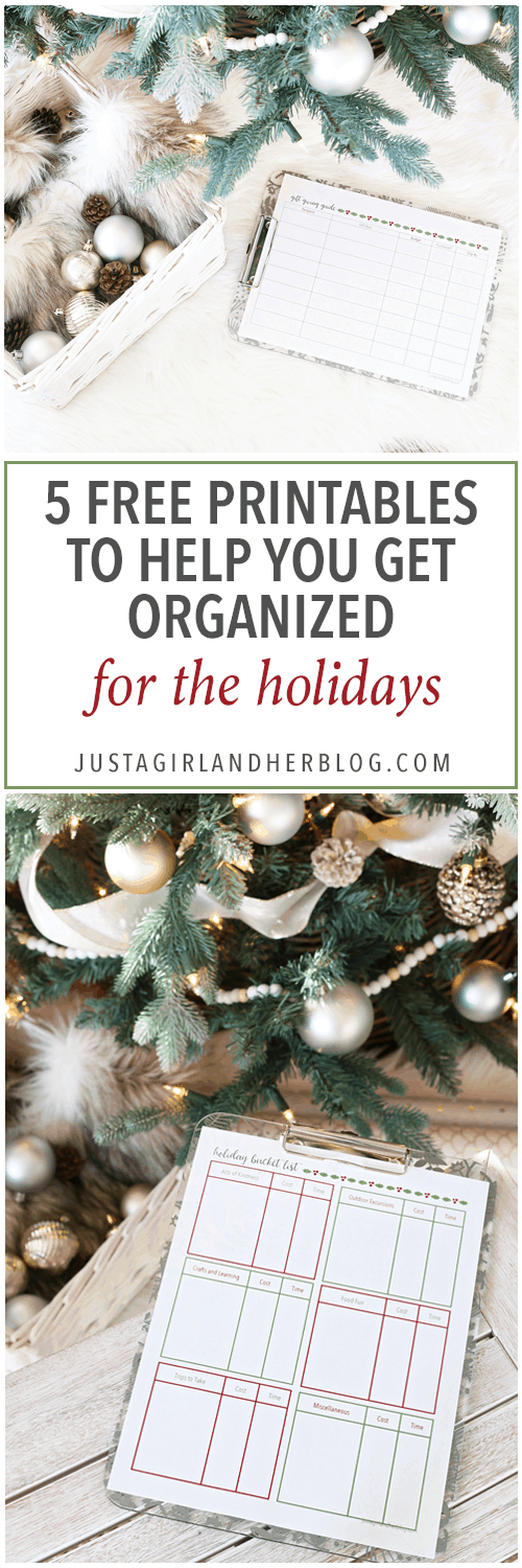 holiday and party 5 free printables to help you get organized this holiday season