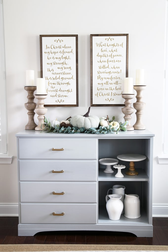 DIY Dresser Turned Sideboard Buffet Makeover Painted Furniture Dining Room Decor Upcycle Before And After