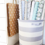 How to Create an Organized Gift Wrap Station