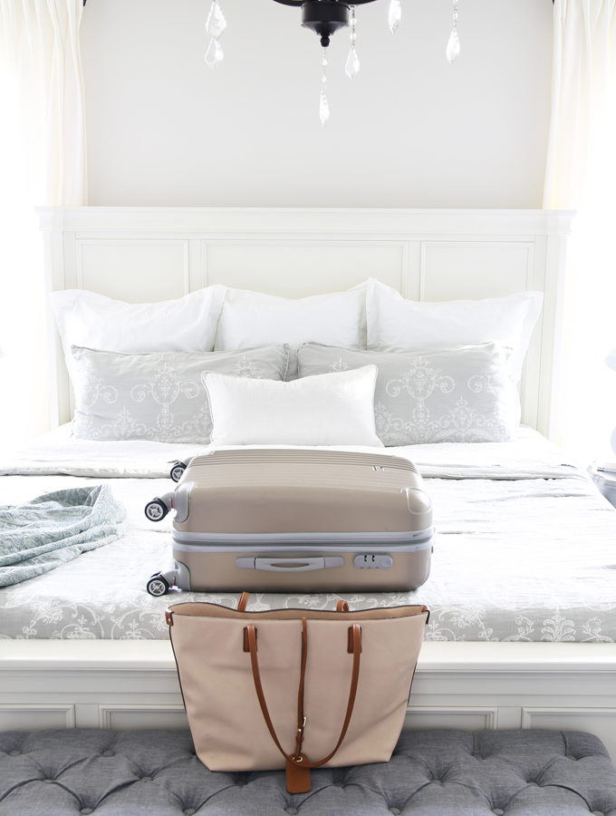 Travel, Home Organization- How to Pack an Organized Suitcase When You Travel, suitcase organization, packing cubes, toiletry bag, trip, flying, traveling, suitcase organization tips and tricks featured