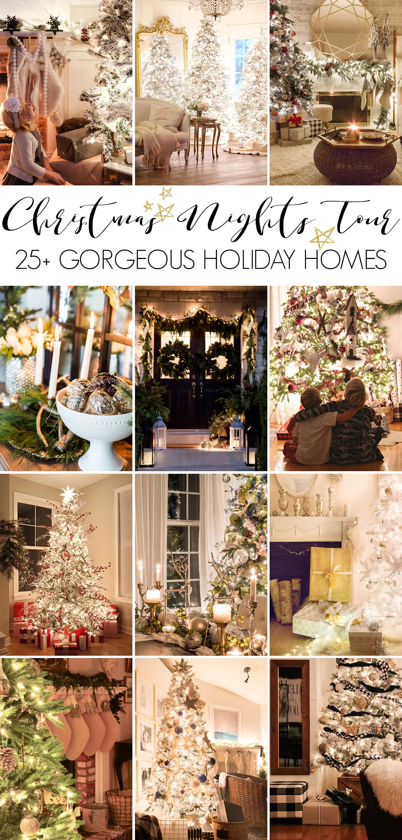 Home- Christmas Nights Tour, Christmas lights, Christmas tree, Christmas decor, holiday decor, home tour, Christmas home tour, holiday home tour, Christmas ornaments, Tour Image