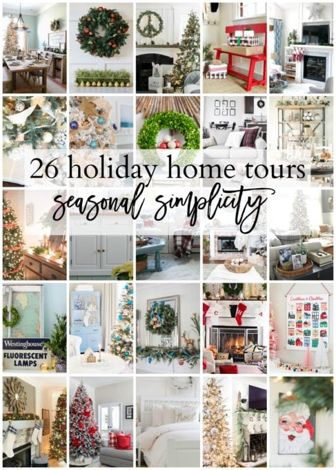 Home- Beautiful neutral Christmas home tour with silver, gold, gray, and white, Holiday Seasonal Simplicity Tour, neutral decor, farmhouse decor, cottage style