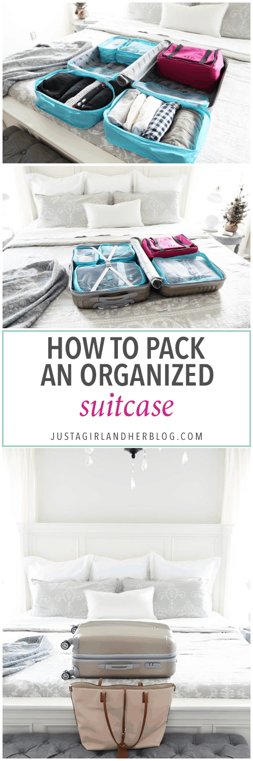 Travel, Home Organization- How to Pack an Organized Suitcase When You Travel, suitcase organization, packing cubes, toiletry bag, trip, flying, traveling