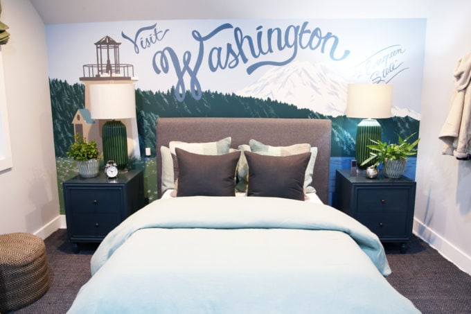 Home- Tour of the 2018 HGTV Dream Home in Gig Harbor, Washington near Seattle, Washington, Brian Patrick Flynn, Pacific North West, coastal style, pastel decor, gallery walls, home renovation, Delta faucet, loft bedroom