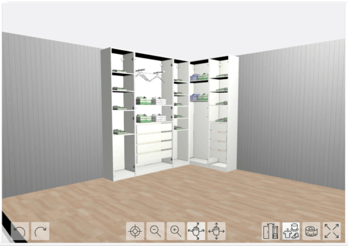 Home- Creating Built In Office Storage with the IKEA PAX system, organized office, home office organization, PAX wardrobe with GRIMO doors as office storage, how to design and install the IKEA PAX system, IKEA PAX planner, storage unit mockup