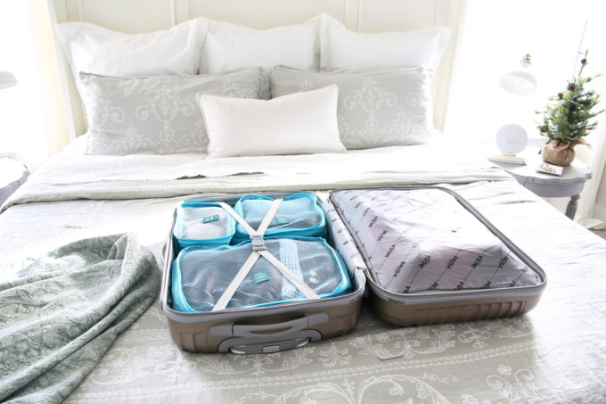 Travel, Home Organization- How to Pack an Organized Suitcase When You Travel, suitcase organization, packing cubes, toiletry bag, trip, flying, traveling, suitcase organization