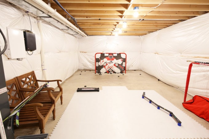 The 4 Big Organization Projects That We Want to Complete in 2018, before pictures, get organized, organize your life, organizing, hockey area in basement