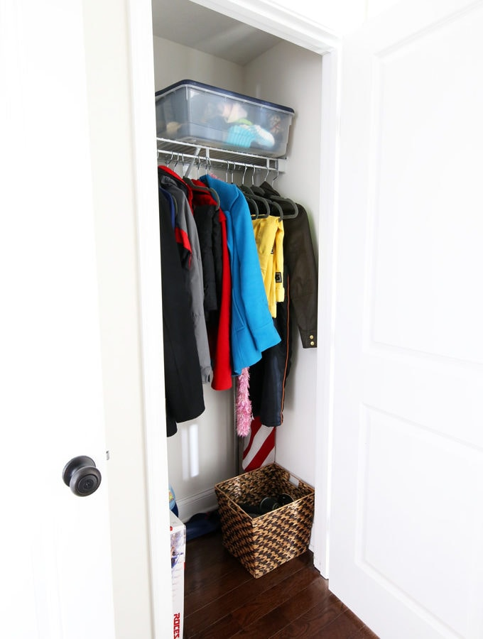 The 4 Big Organization Projects That We Want to Complete in 2018, before pictures, get organized, organize your life, organizing, organized mudroom, unfinished mudroom closet