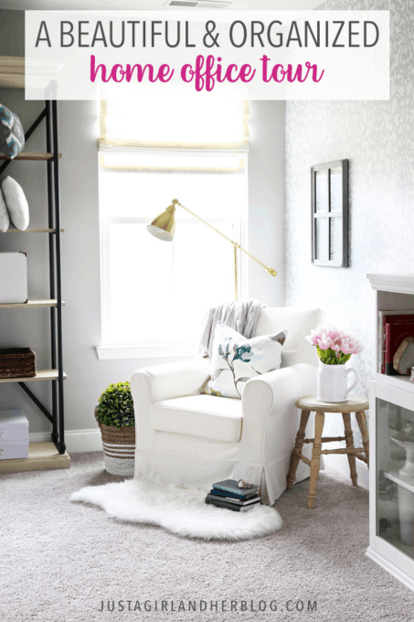 Home office home office organization ideas room Craft Beautiful And Organized Home Office Tour Just Girl And Her Blog Beautiful And Organized Home Office Tour Just Girl And Her Blog