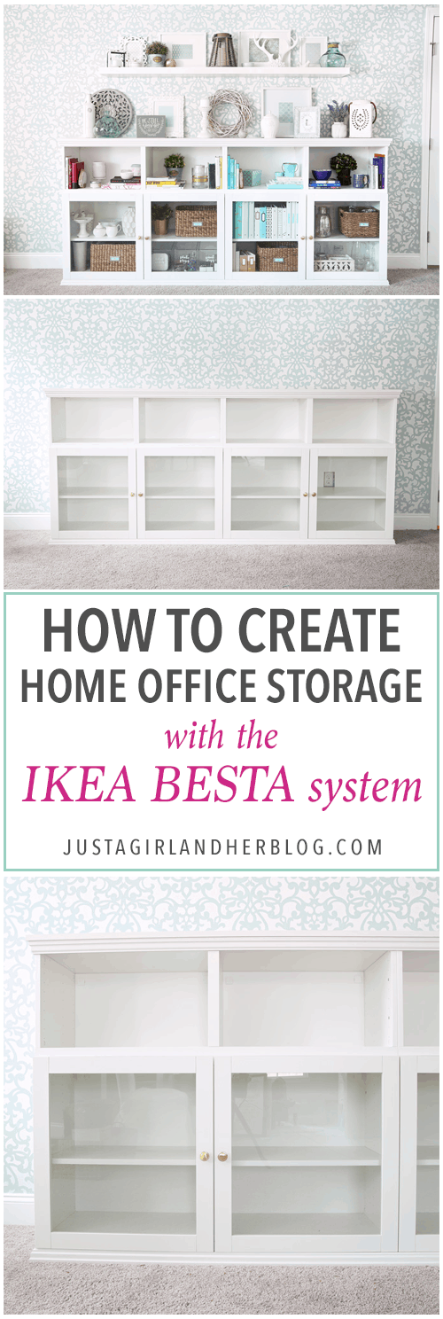 How to create home office storage with the ikea besta for Creating a home office