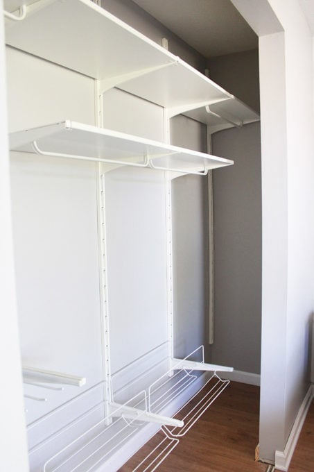 This super helpful post talks about IKEA's 3 best storage systems-- ALGOT, BESTA, and PAX-- and gives great ideas for using them in your home! | IKEA BESTA storage system, modular storage system, IKEA ALGOT closet system, custom closet system, IKEA PAX wardrobe system, DIY wardrobe, IKEA hack, how to plan for and install IKEA storage systems