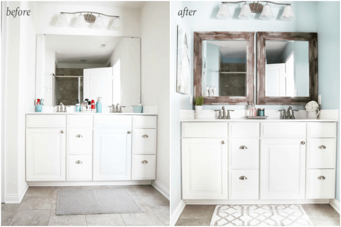 5 Simple And Inexpensive Ways To Update A Builder Grade Bathroom