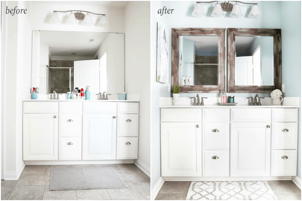 5 Simple And Inexpensive Ways To Update A Builder Grade Bathroom Just A Girl And Her Blog