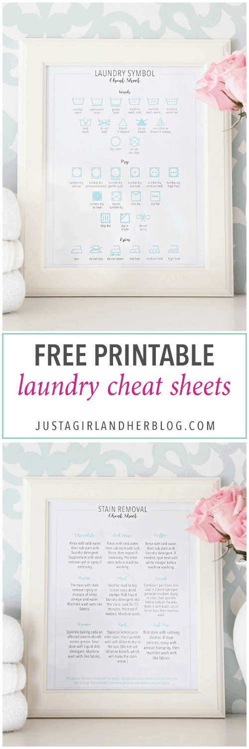 photograph regarding Laundry Symbols Printable named Totally free Laundry Cheat Sheet Printables for Spring Cleansing