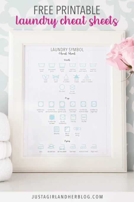 picture about Laundry Symbols Printable known as Totally free Laundry Cheat Sheet Printables for Spring Cleansing