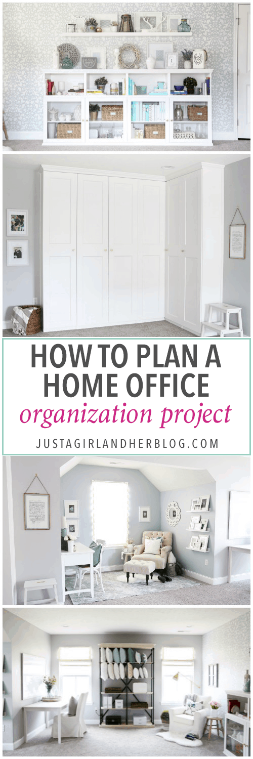 organizing home office. She Explains Her Exact Process For Organizing And Decorating This Gorgeous Home Office To Make It