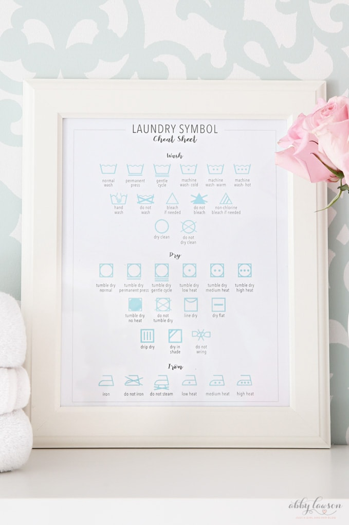 image relating to Laundry Symbols Printable called No cost Laundry Cheat Sheet Printables for Spring Cleansing