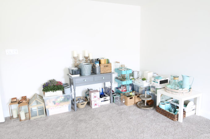 How to Plan a Home Office Organization Project | organize, organizing, home office, craft room, organized office, get organized, declutter, before photos, temporary storage solutions