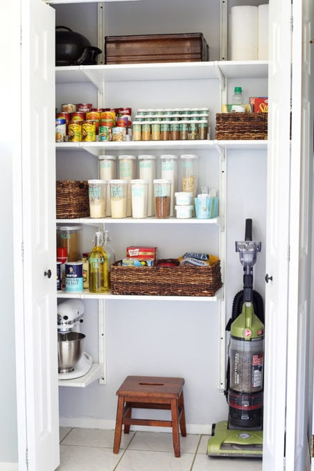 This super helpful post talks about IKEA's 3 best storage systems-- ALGOT, BESTA, and PAX-- and gives great ideas for using them in your home! | IKEA BESTA storage system, modular storage system, IKEA ALGOT closet system, custom closet system, IKEA PAX wardrobe system, DIY wardrobe, IKEA hack, how to plan for and install IKEA storage systems, organized kitchen pantry with IKEA ALGOT system