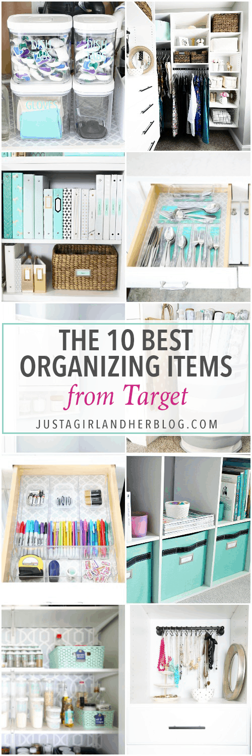 Love these top 10 best organizing items from Target! Adding them to my list for my next Target run! | organization, organize, get organized, organizing supplies, storage solutions, tidy, declutter, decluttering, #target #organization #targetrun #targetdoesitagain