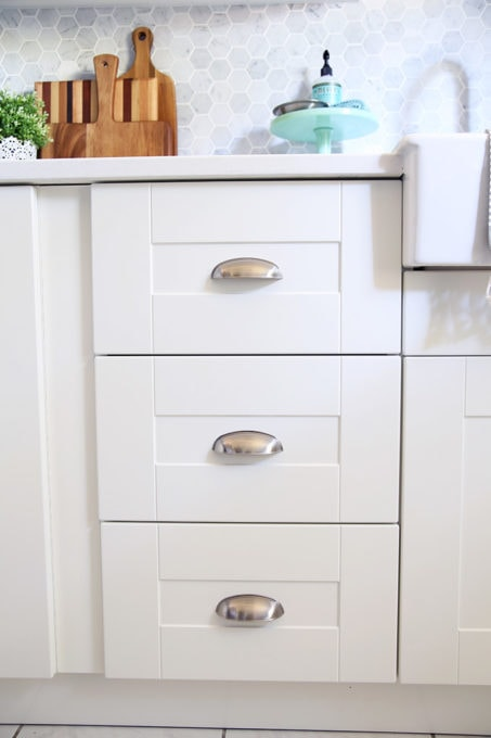 GRIMSLOV Drawer Fronts on IKEA SEKTION Kitchen Drawers and Cabinets