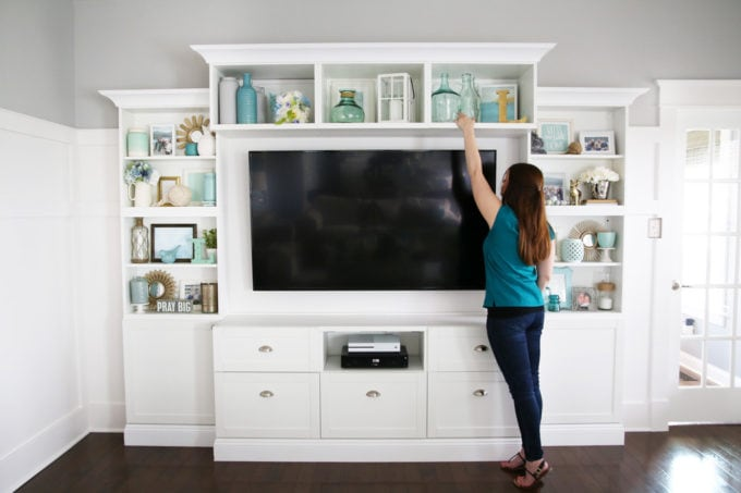 How to Decorate Shelves - Just a Girl and Her Blog