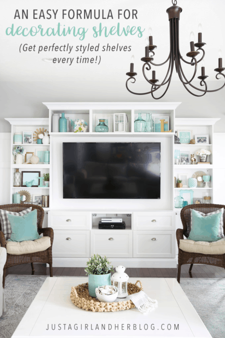 An Easy Formula for Decorating Shelves (Get Perfectly Styled Shelves Every Time!)