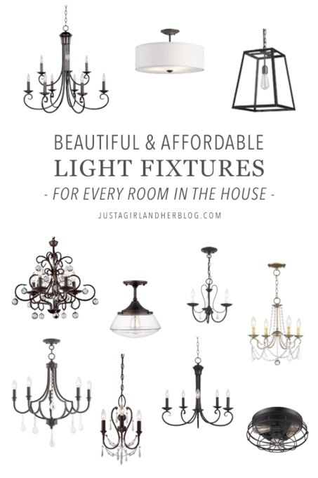 Beautiful and Affordable Light Fixtures for Every Room in the House- Hallway, Mudroom, Kitchen, Living Room, Sunroom, Dining Room, Kids' Room, Playroom, Guest Room, Office, Master Bedroom, Walk-In Closet