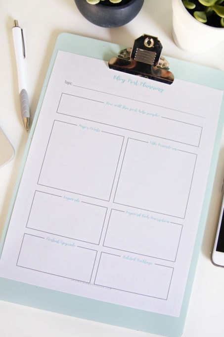 Be More Intentional About Your Blog Post Content with This Free Printable Worksheet
