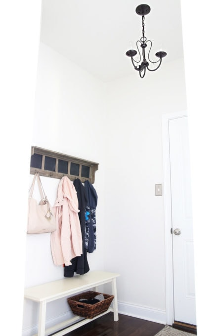 Oil Rubbed Bronze Mini Chandelier in the Mudroom