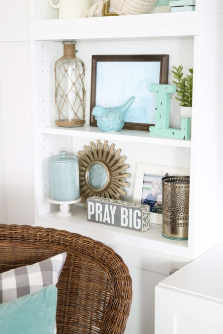 Decorative Objects on Styled Shelves, Vignette