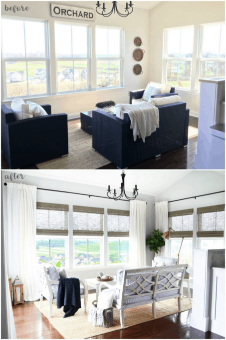 Sunroom Before and After Transformation, Morning Room