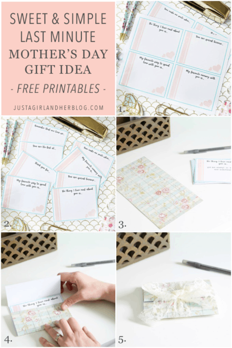 Sweet and Simple Last Minute Mother's Day Gift Idea with Free Printables