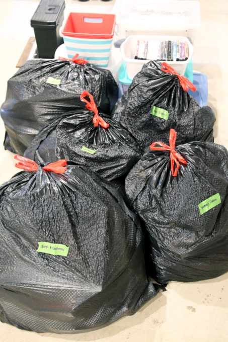 Bags of Clothes to Donate After Decluttering Clothes