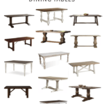 15+ Gorgeous Farmhouse Style Dining Tables
