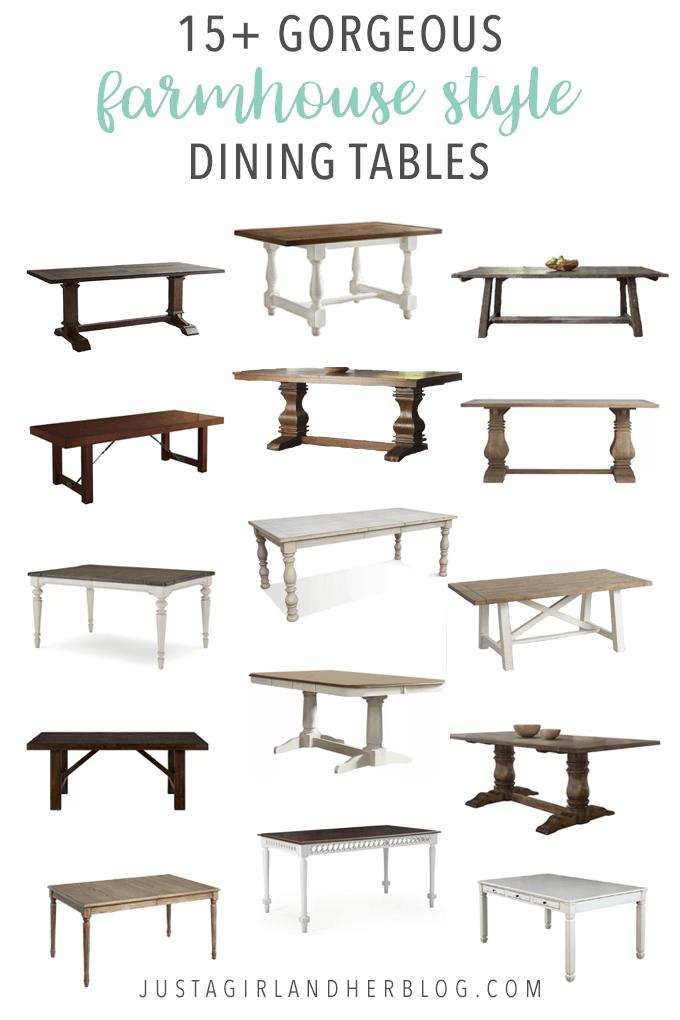 Farmhouse Style Dining Tables